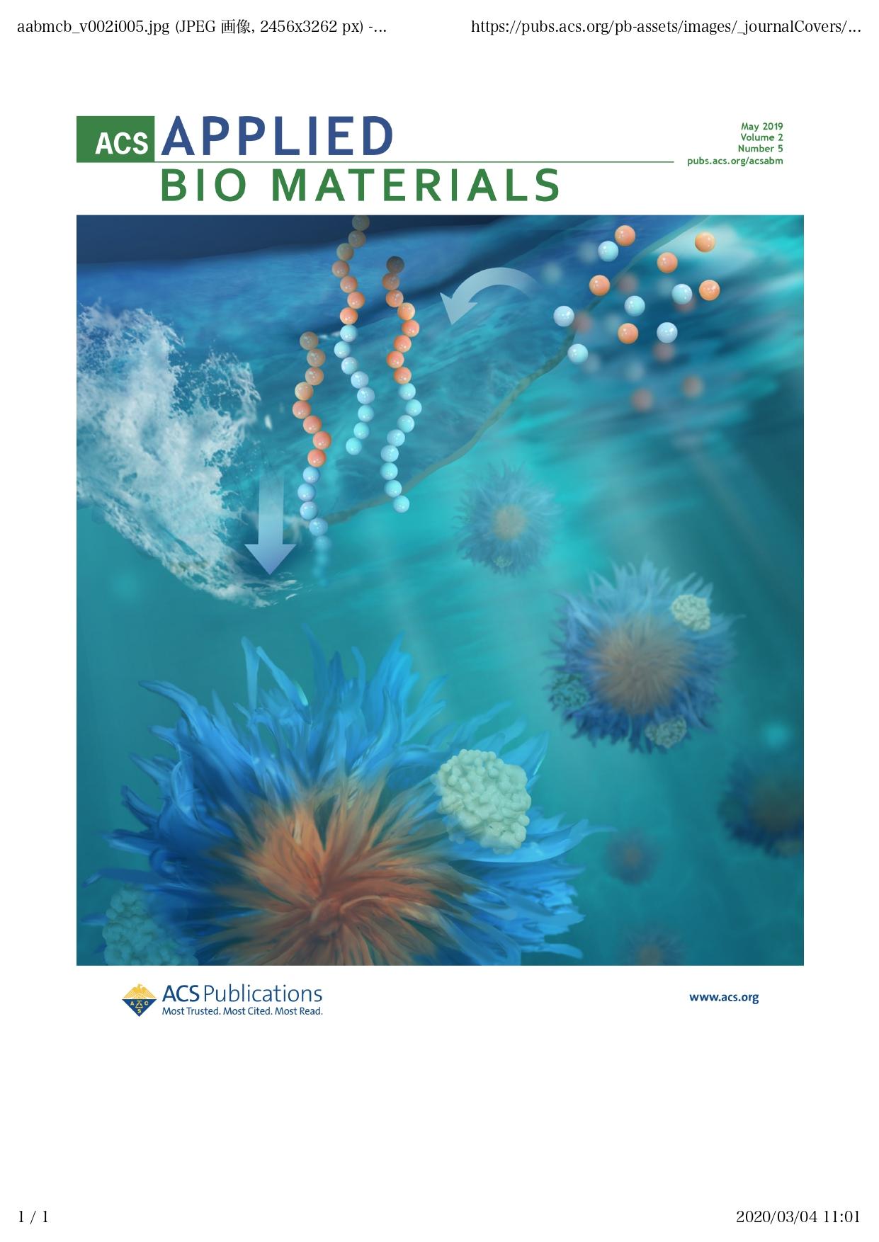 Y. Koda et al., ACS Applied Bio Materials, 2019